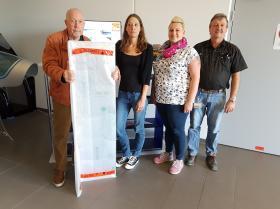 Spende der Firma Plexiglas aus Holzkirchen